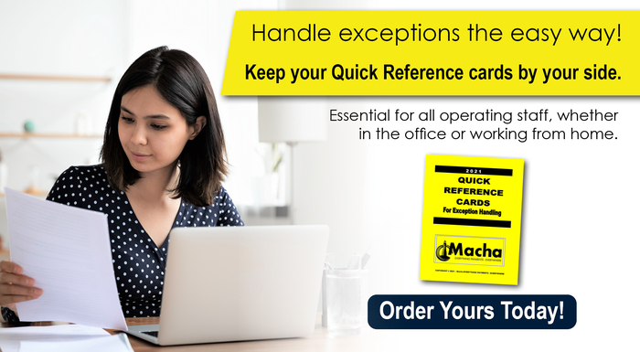Quick Reference Cards for Exception Handling