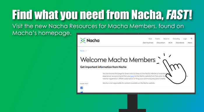 Visit Your Nacha Resource Page for: